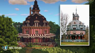Armour–Stiner House, An Octagonal Victorian House Minecraft Map & Project