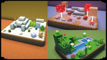 Build Mini Biomes Minecraft Map & Project
