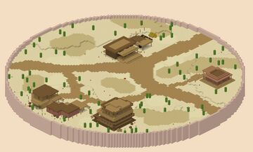 🌵 Cowboy Arena 🌵 1v1 🌵 PVP 🌵 Minecraft Map & Project