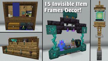15 Innovative Item Frame Designs!! Minecraft Map & Project