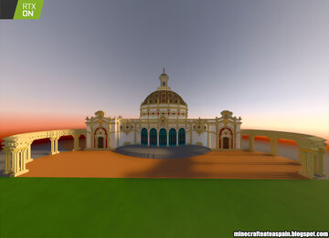 Minecrafteate in RTX, Nº28: Replica of the Lope de Vega Theater, Seville, Spain. Minecraft Map & Project
