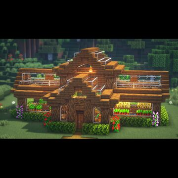 How to build a GREENHOUSE Minecraft Map & Project