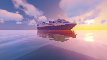 CUSTOM CRUISE SHIP - MV DISCOVERY Minecraft Map & Project