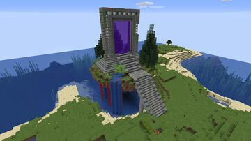 First try terraforming and Nether portal Minecraft Map & Project