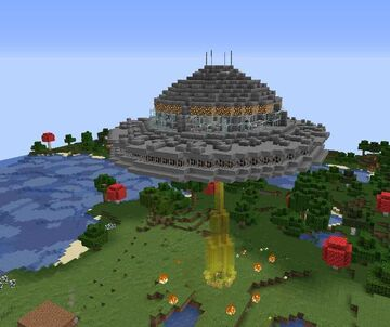 Kidnapped by an unidentified flying object Minecraft Map & Project