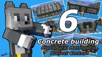 Concrete building [Procedural Metropolis] Minecraft Map & Project