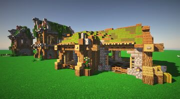 Three farm houses Minecraft Map & Project
