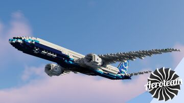 Boeing 777-9 Minecraft Map & Project