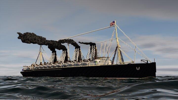 Lusitania in war time