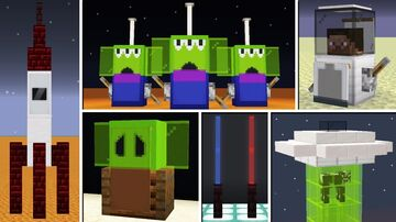 10+ Space & Star Wars Build Hacks! Minecraft Map & Project