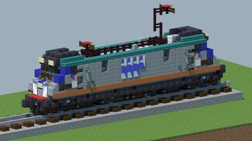 Amtrak Siemens acs-64 Electric Locomotive [With Download] Minecraft Map & Project