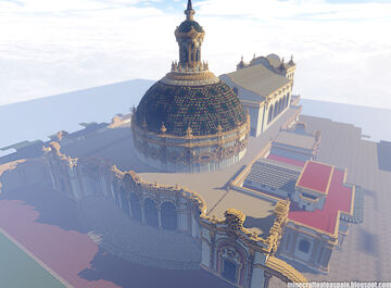 Minecraft replica of the Lope de Vega Theater, Seville, Spain. Minecraft Map & Project
