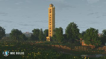 Sway Tower, A Victorian folly built in the New Forest, England. Minecraft Map & Project