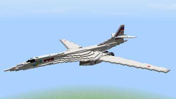 Tupolev Tu-160 White Swan (Blackjack) (1.5-1 scale) Minecraft Map & Project