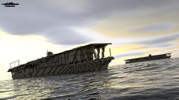 IJN Akagi 1:1 Scale Minecraft Map & Project