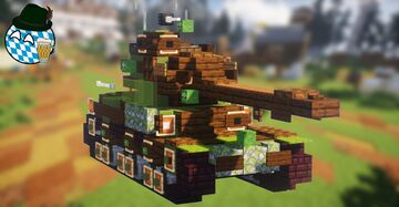 Strv 74 (2:1 Scale) Minecraft Map & Project