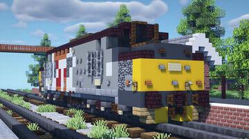 British Rail Class 37 Diesel Locomotive Minecraft Map & Project