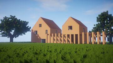 Casa Naranja - Modern House with Beautiful Interior Minecraft Map & Project