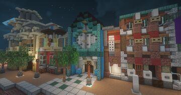 Main Street (Hong Kong Disneyland) Minecraft Map & Project