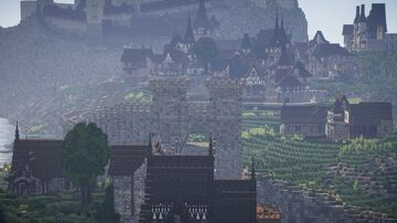 The medieval island city of Aegir's Rocks Minecraft Map & Project