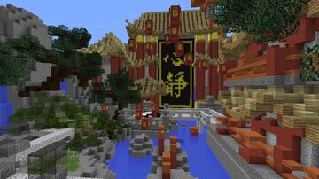 Jumpcraft Parkour : Happy New Year Chinese Temple Parkour Jump and Run Minecraft Map & Project