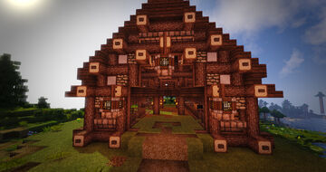 Rustic Stables (Medieval Barn) Minecraft Map & Project
