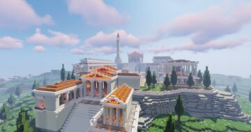 Spawn in Greek style Minecraft Map & Project