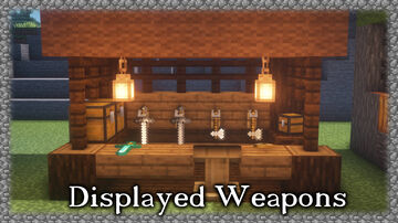 Displayed Weapons and Tools Minecraft Map & Project