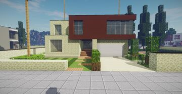 Modern House #47 Map + Schematics Minecraft Map & Project