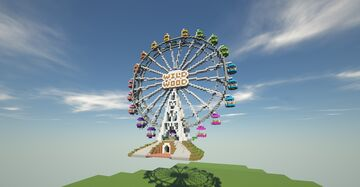 Playable Ferris Wheel (Player can round the wheel) Minecraft Map & Project