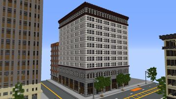 Custom American building 1.5:1 scale Minecraft Map & Project