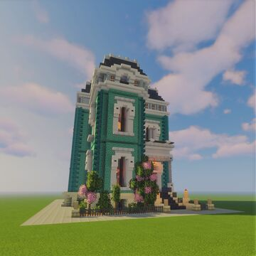 Blue Victorian House Minecraft Map & Project