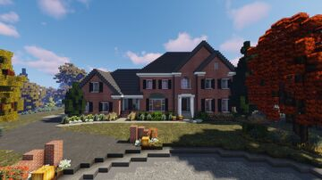 Brick Suburban House | TRS Minecraft Map & Project