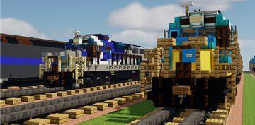 minecraft SRO locomotives SDL50s Minecraft Map & Project