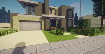 Modern House #48 Map + Schematics Minecraft Map & Project