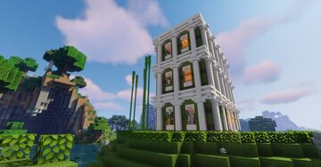 Colourful Green Baroque House Minecraft Map & Project