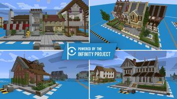 Procedural Metropolis Contest Entry: Realistic Buildings/Vintage Houses Minecraft Map & Project