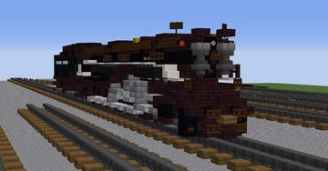 Union Pacific 4-12-2 Steam Locomotive Minecraft Map & Project