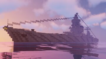 Imperial Japanese Battlecruiser - IJN Azuma Minecraft Map & Project