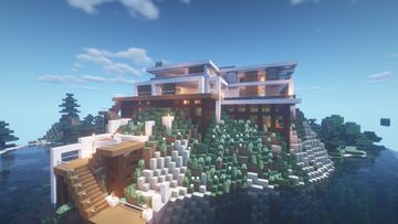 Mountain Mansion Minecraft Map & Project