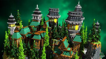 ⭐ EXCLUSIVE ⭐ Mountain Castle - AliensBuilds ⛰️ Minecraft Map & Project
