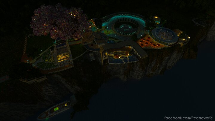 Cliffside Home Republic of Union Islands at Night