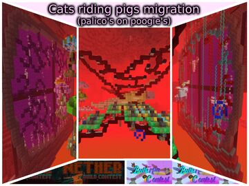 Cats riding pigs migration (palico's on poogie's) Minecraft Map & Project