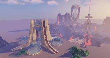 Minecraft Futuristic Tower Base - Easy Futuristic Base - Minecraft Alien World Minecraft Map & Project