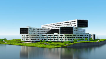 Equinor Headquarters // Fornebu, Norway // Recreation Minecraft Map & Project