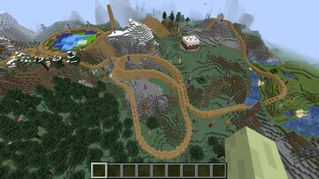 PMC 10th Anniversary Roller Coaster Minecraft Map & Project