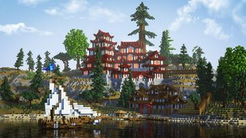 Akatori Castle - First Dawn Project Minecraft Map & Project
