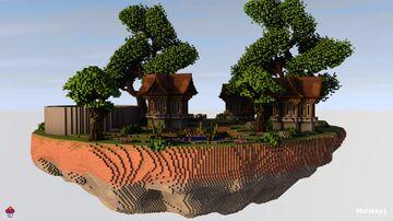 100x100 Sky Block spawn - FreyjaBuilds Minecraft Map & Project