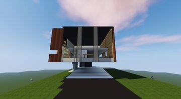 Conceptual Cantilever House Minecraft Map & Project