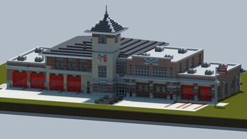 Modern Firestation #1 [With interior and download] Minecraft Map & Project